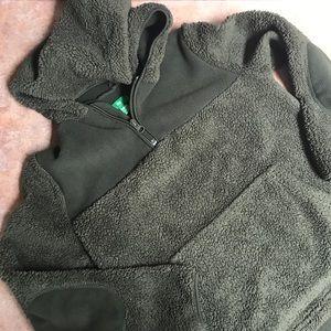 Boys fuzzy pullover hooded jacket